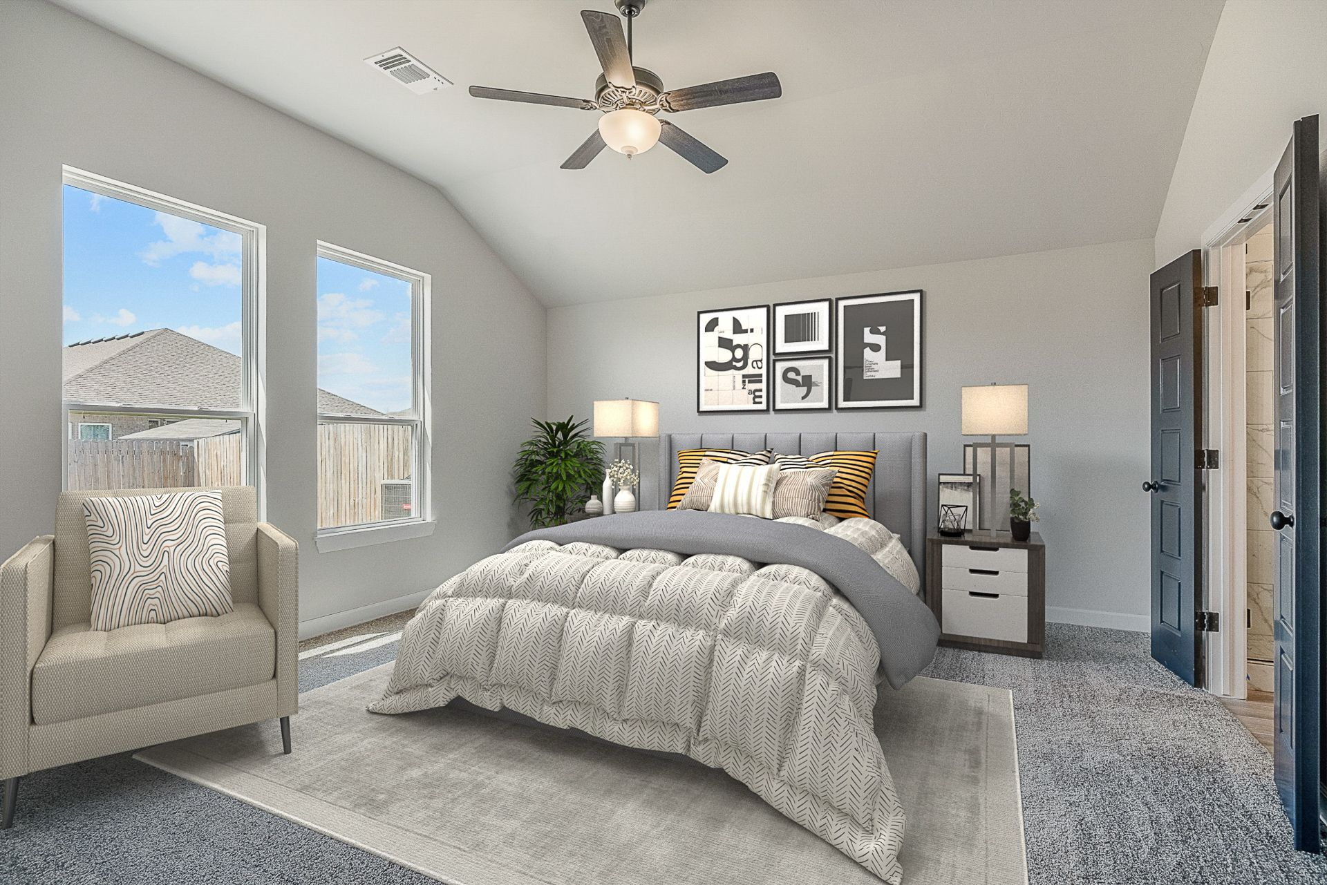 Bedroom featured in the Montgomery By Ideal Homes in Oklahoma City, OK