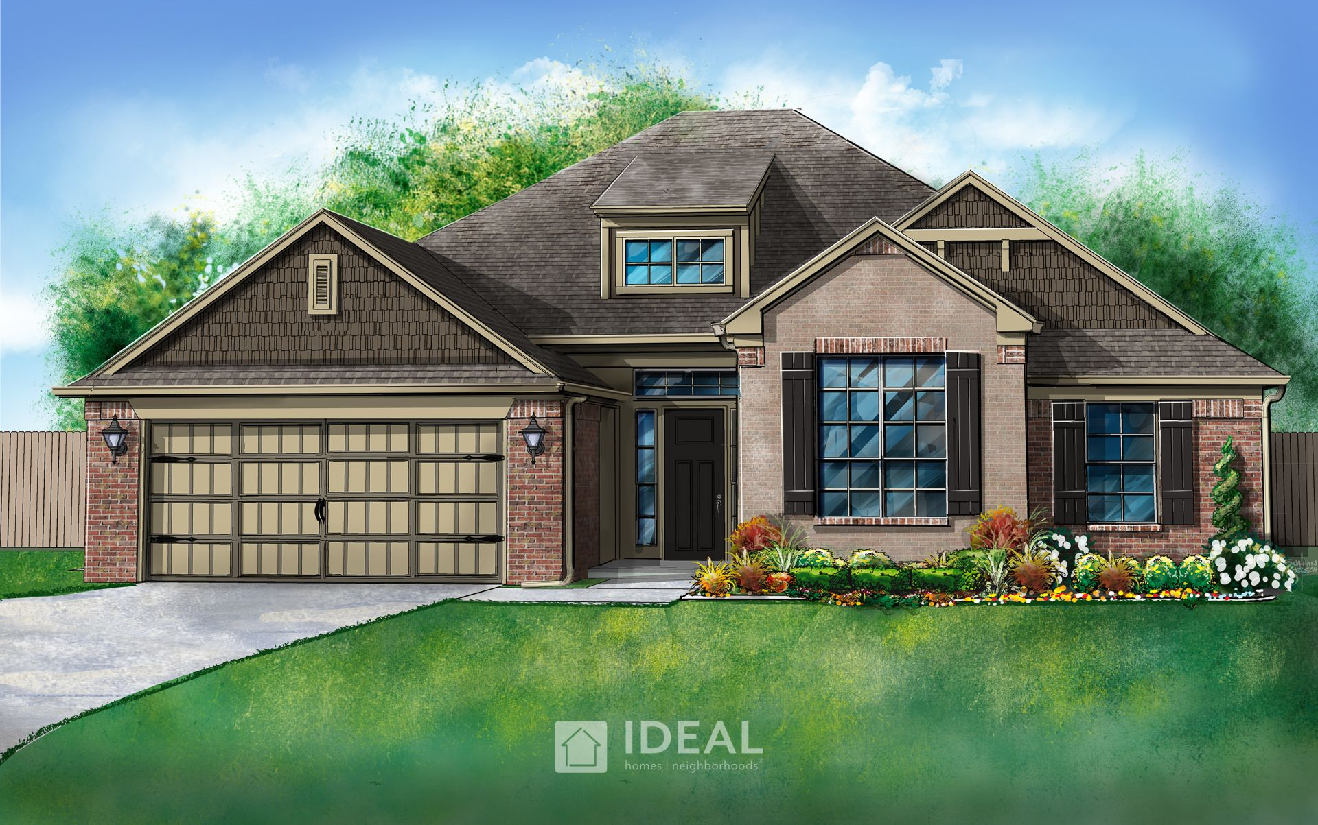 Exterior featured in the Morrison By Ideal Homes in Oklahoma City, OK