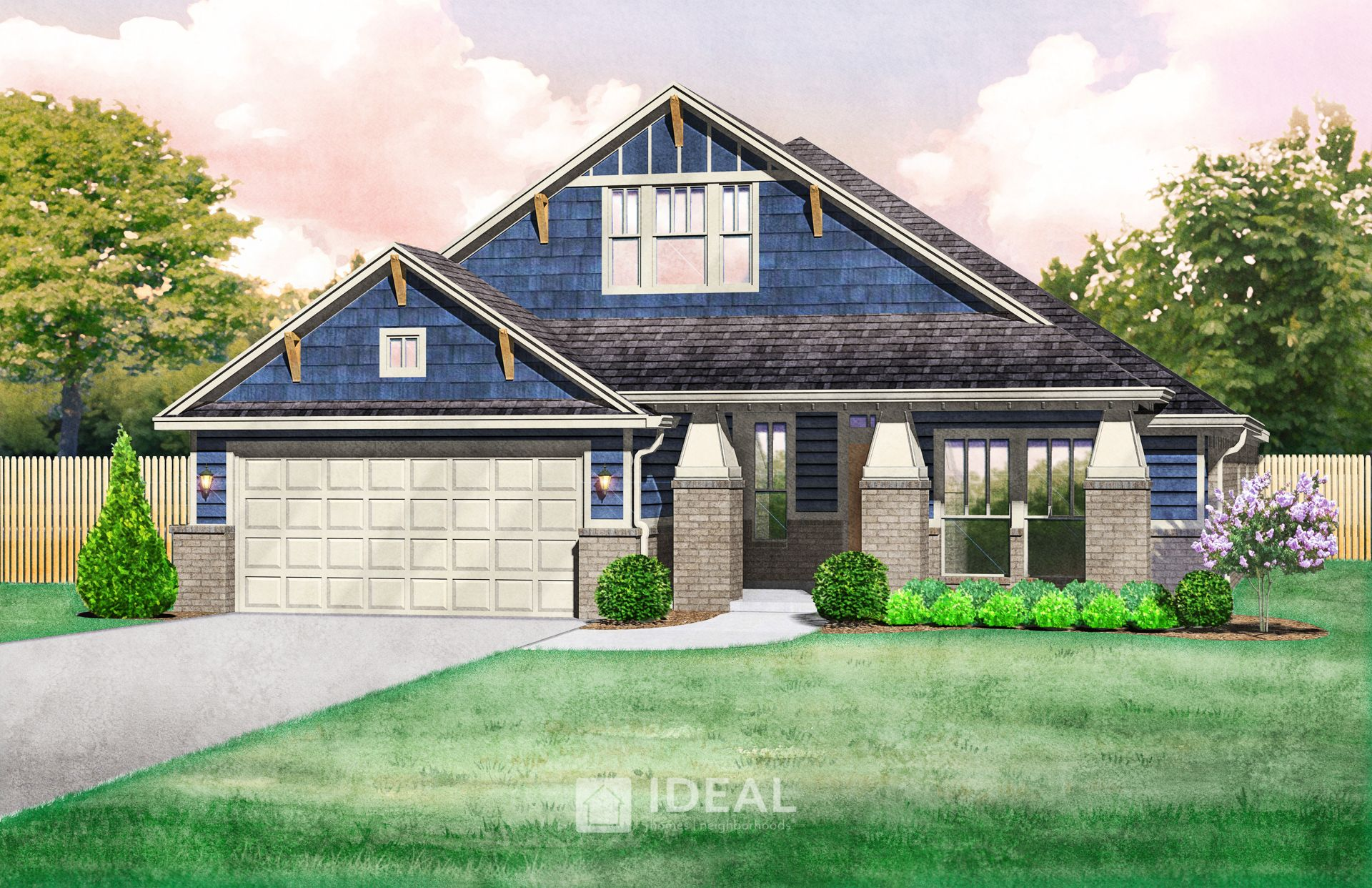 Exterior featured in the Marietta By Ideal Homes in Oklahoma City, OK