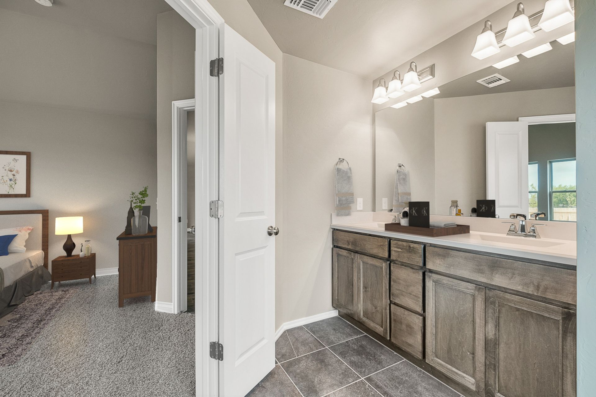 Bathroom featured in the Kingsley By Ideal Homes in Oklahoma City, OK