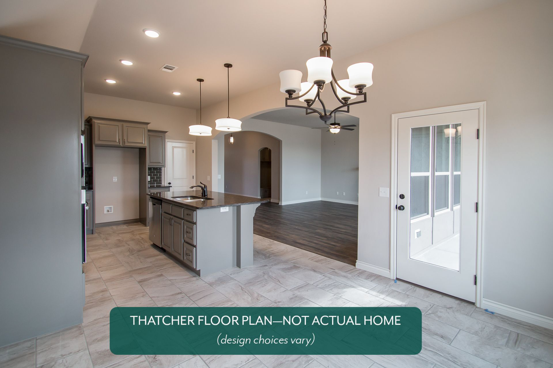 Kitchen featured in the Thatcher By Ideal Homes in Oklahoma City, OK