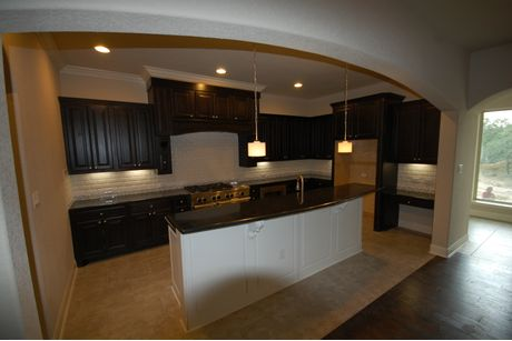 Kitchen-in-Granada-at-Monteverde in Cibolo Canyons-in-San Antonio
