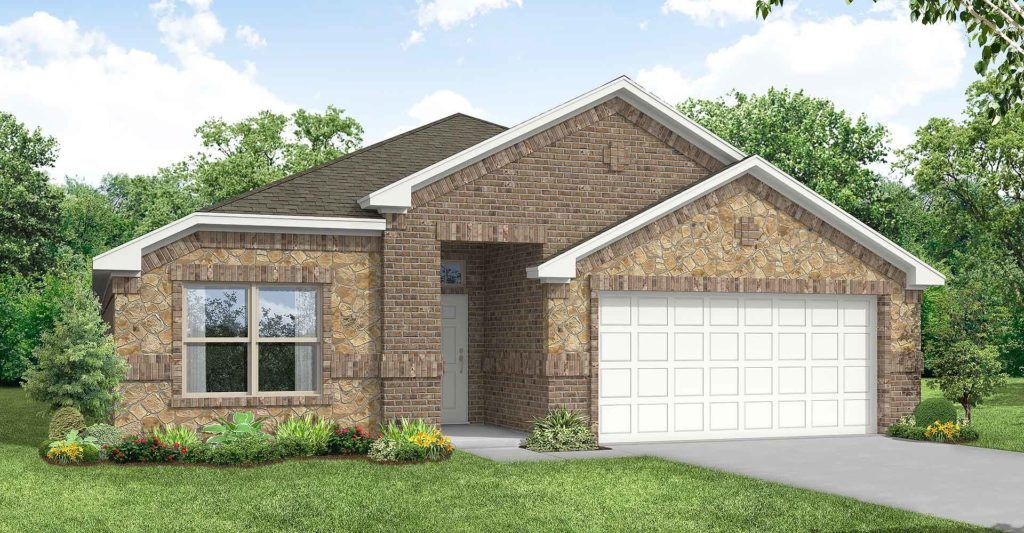 Exterior featured in the Cheyenne By Impression Homes in Fort Worth, TX