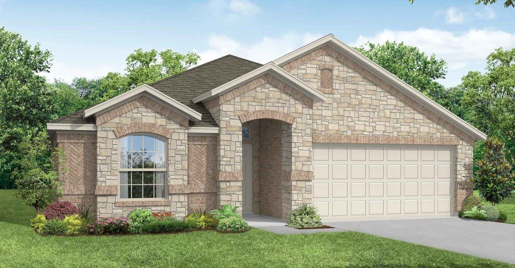 Exterior featured in the Austin By Impression Homes in Fort Worth, TX