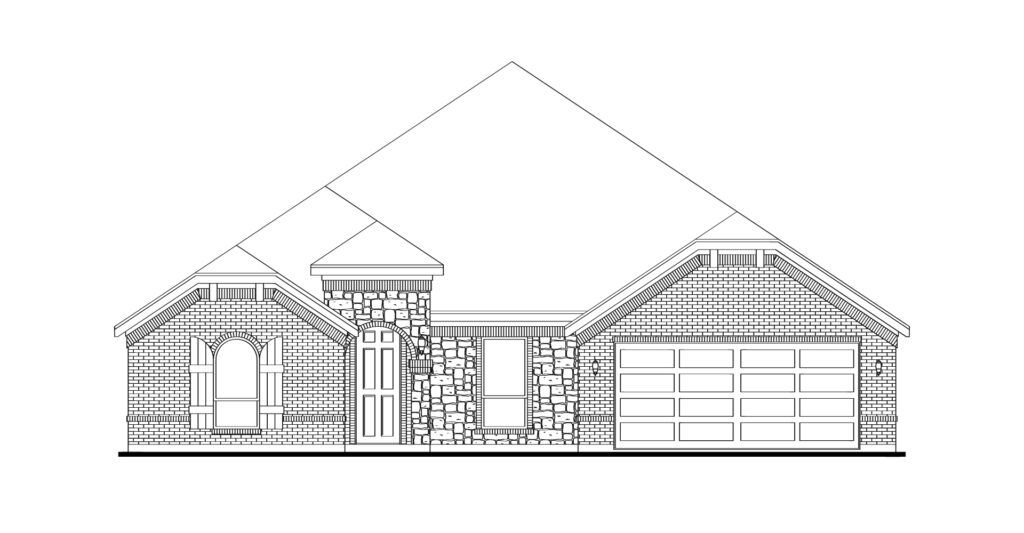 Exterior featured in the Hampton By Impression Homes in Dallas, TX