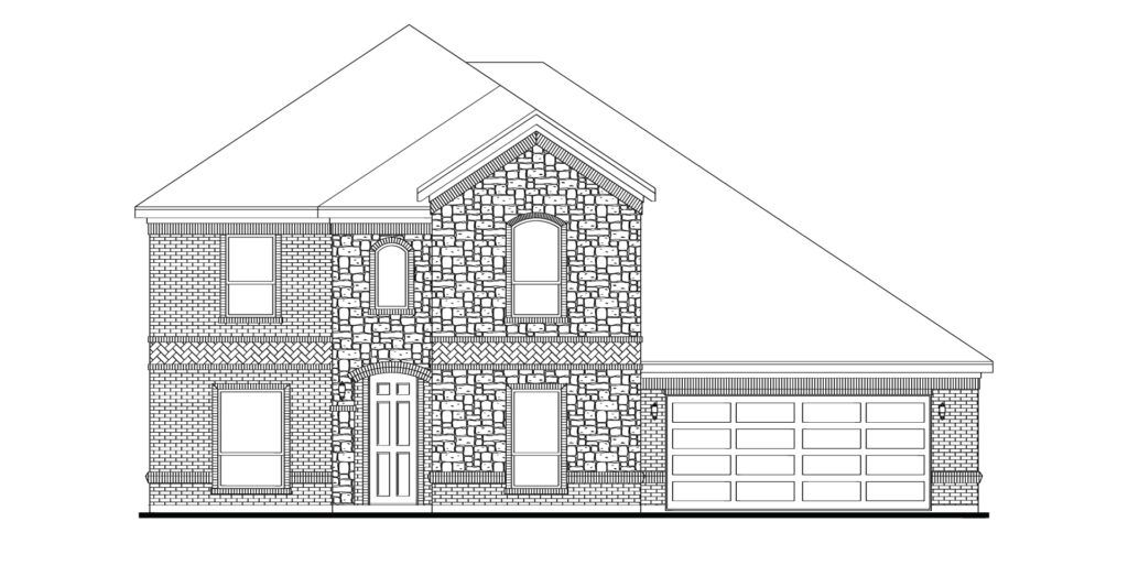 Exterior featured in the Radcliffe By Impression Homes in Fort Worth, TX