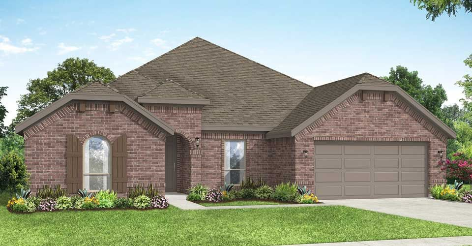 Exterior featured in the Hampton By Impression Homes in Fort Worth, TX