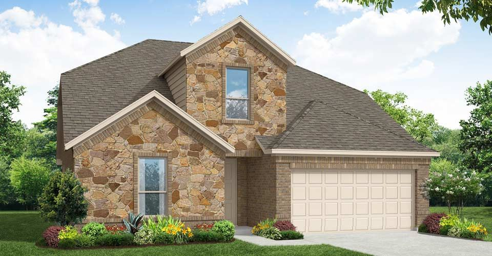 Exterior featured in the Brighton By Impression Homes in Fort Worth, TX