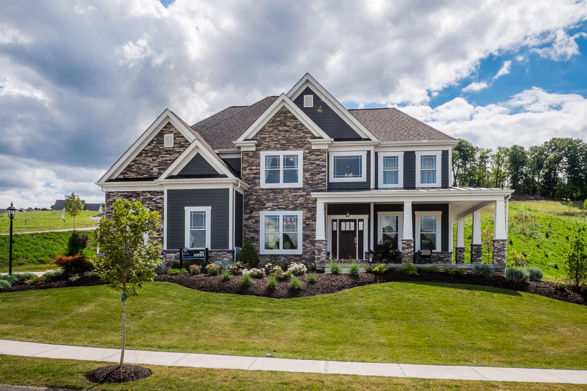Exterior featured in the Aspen By Infinity Custom Homes in Pittsburgh, PA