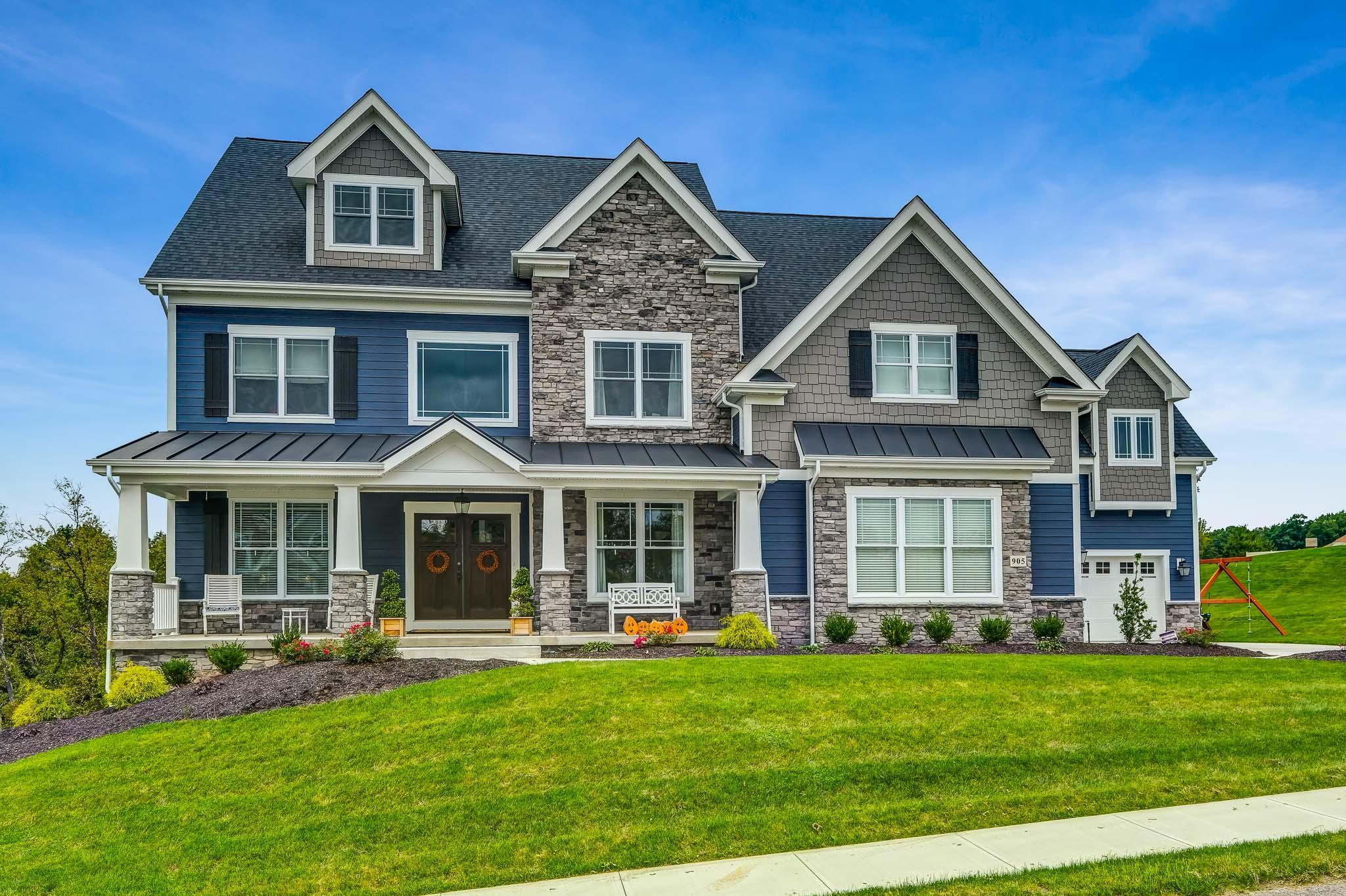 Exterior featured in the Cambridge By Infinity Custom Homes in Pittsburgh, PA