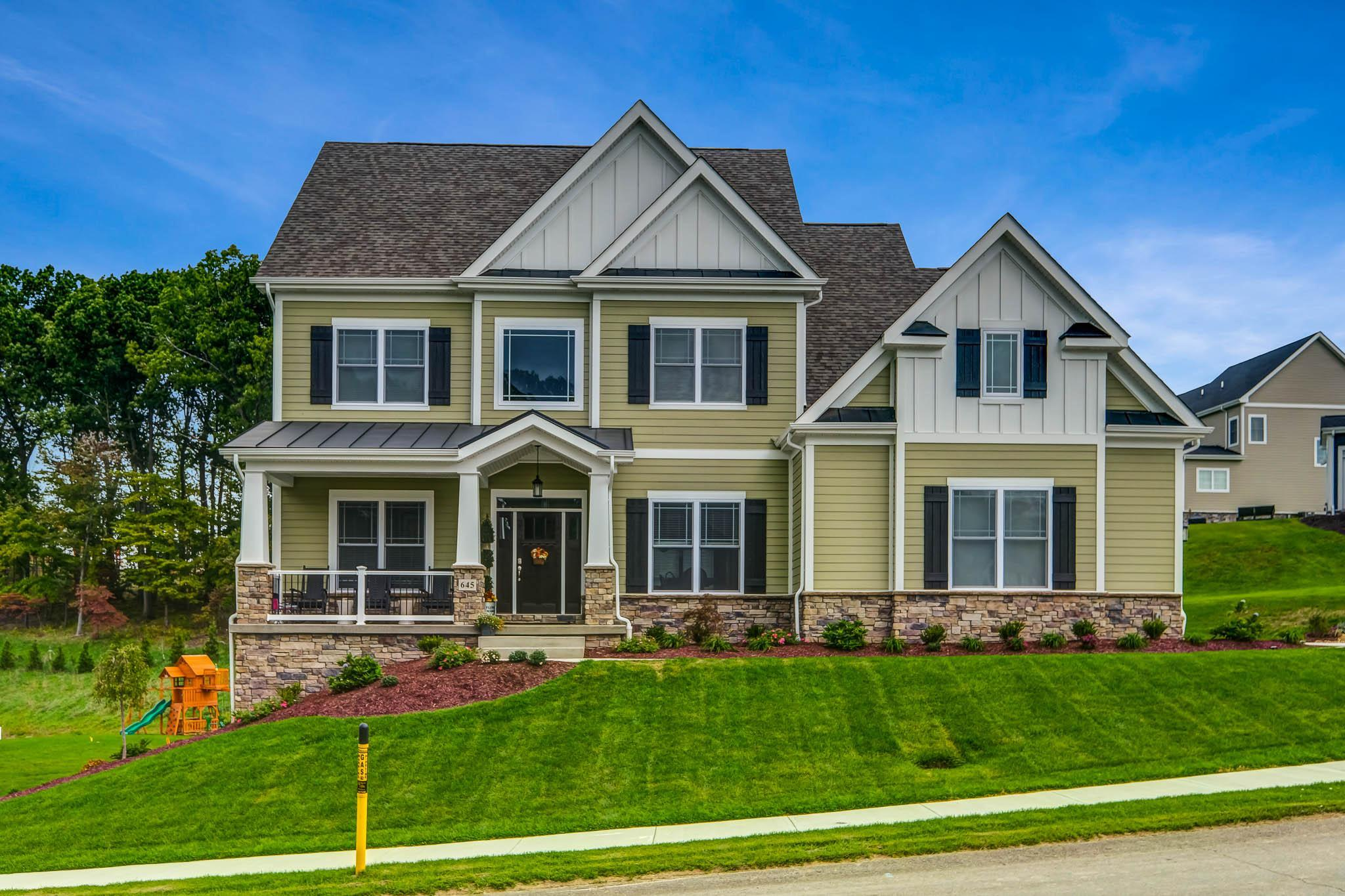Exterior featured in the Napa By Infinity Custom Homes in Pittsburgh, PA