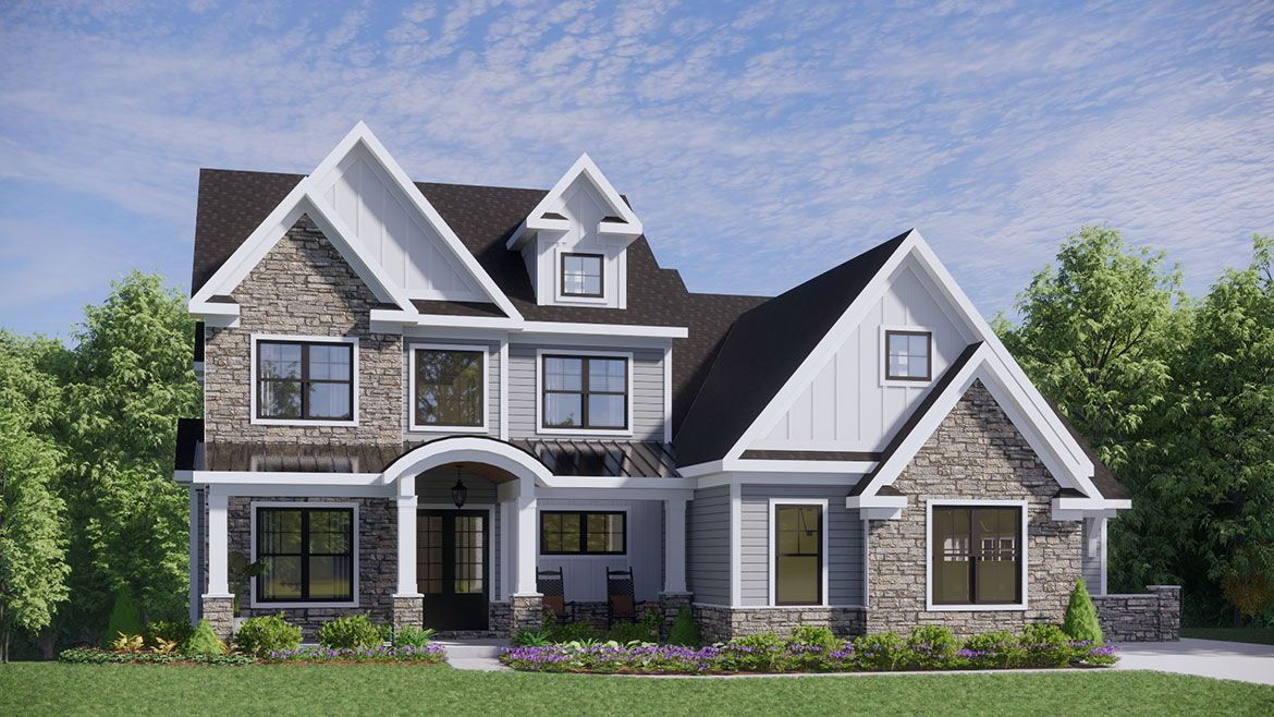 Exterior featured in the Carolina By Infinity Custom Homes in Pittsburgh, PA