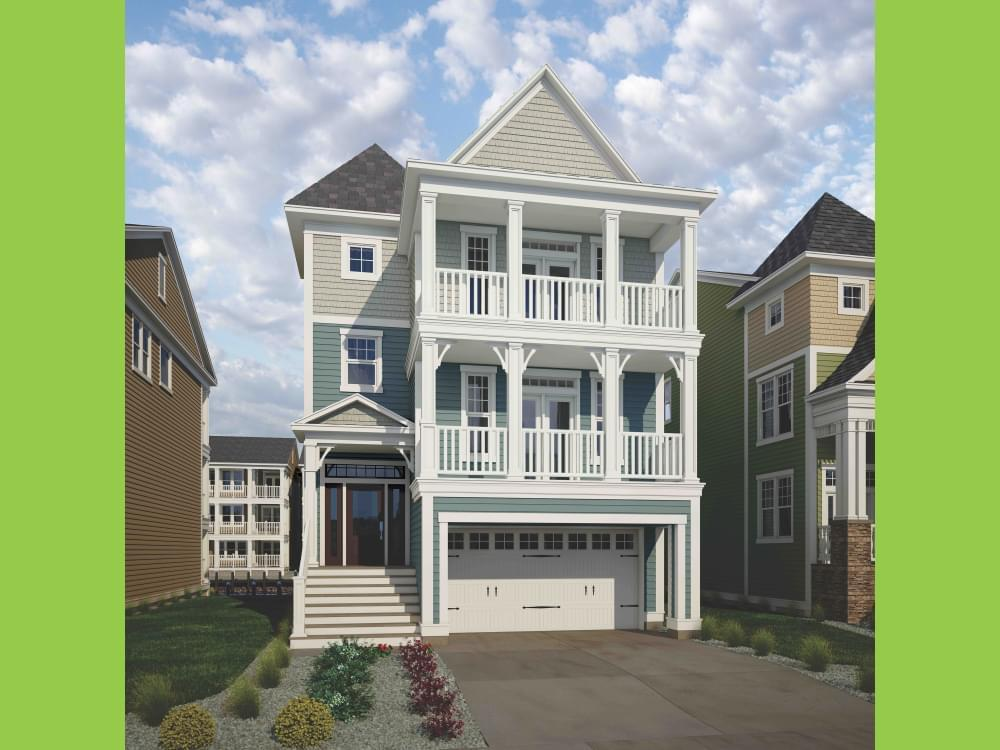 Exterior featured in the Thayer Elevation 2 By Insight Homes in Sussex, DE
