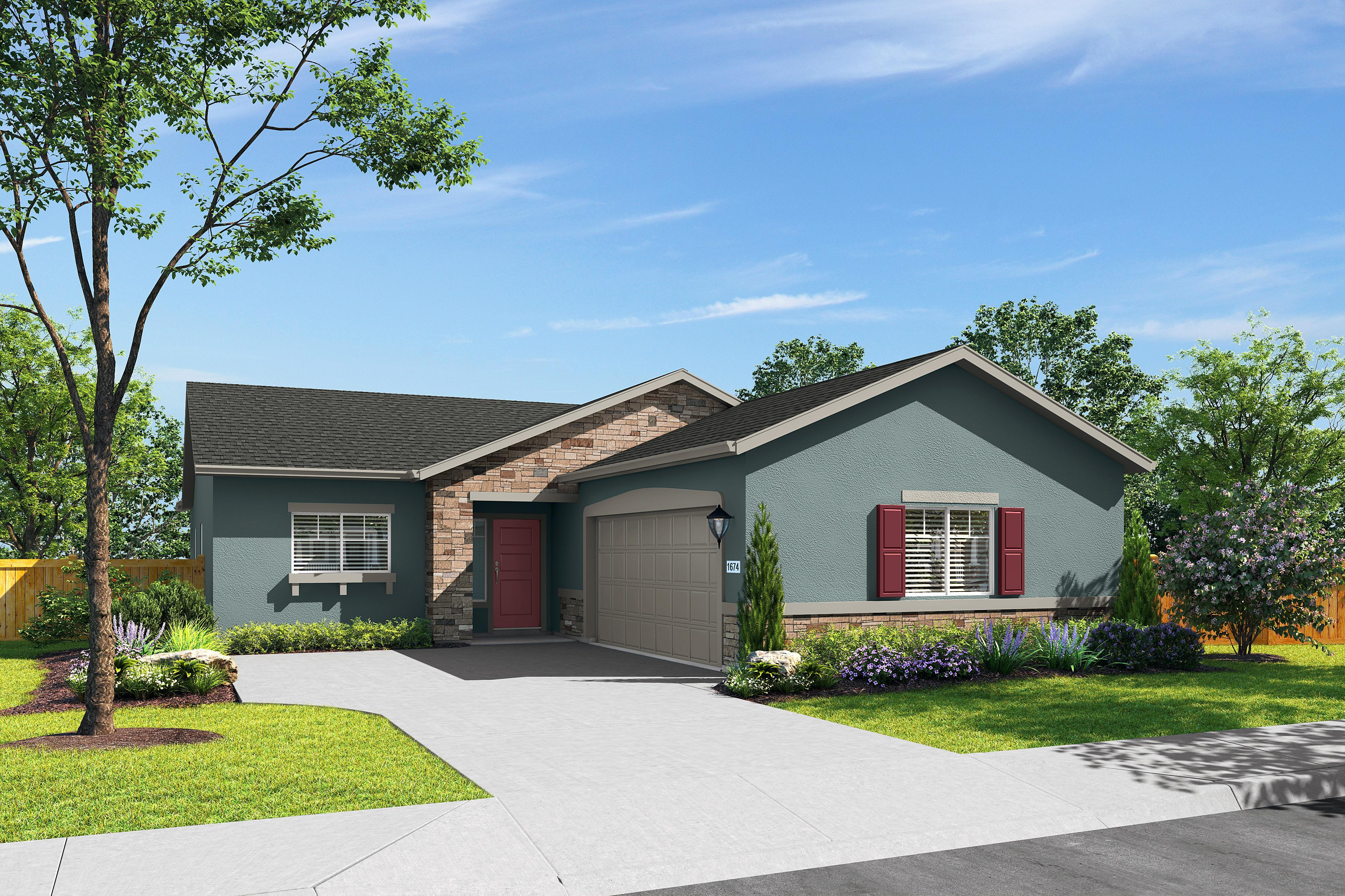 Exterior featured in the Plan 1674 By Blazona Development in Sacramento, CA