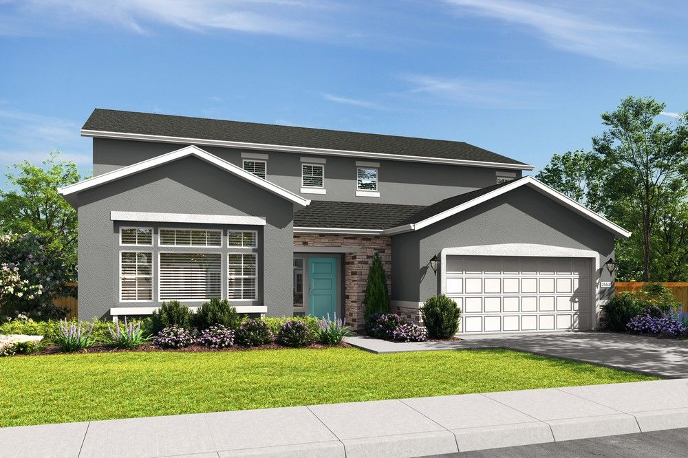 Exterior featured in the Plan 2523 By Blazona Development in Sacramento, CA