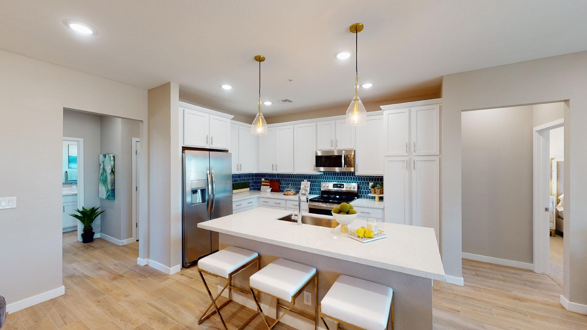 Kitchen featured in the Villa Residence 3 By Ironwood-Waterfall LLC in Phoenix-Mesa, AZ