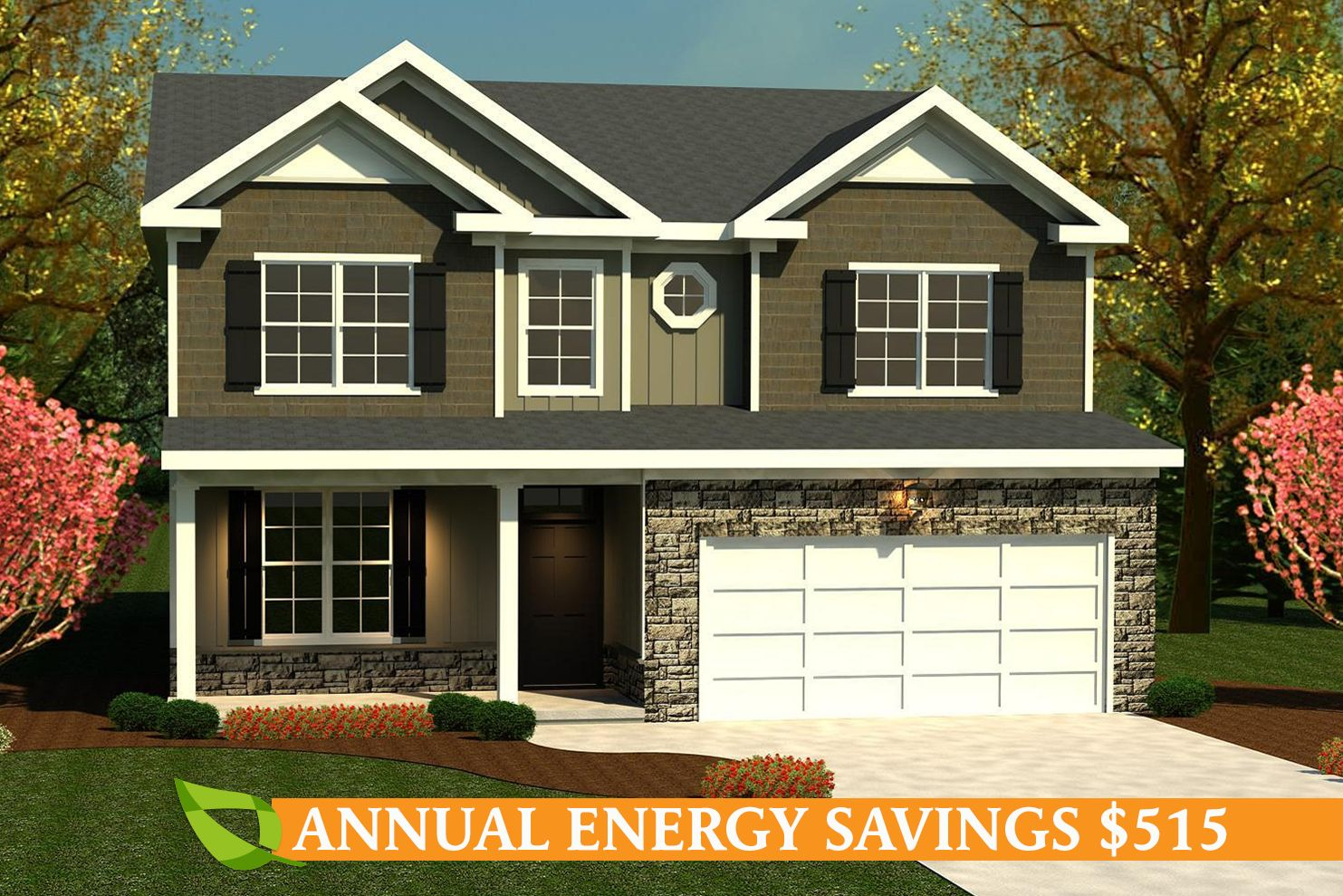 Exterior featured in the Bradford II By Ivey Residential in Augusta, GA