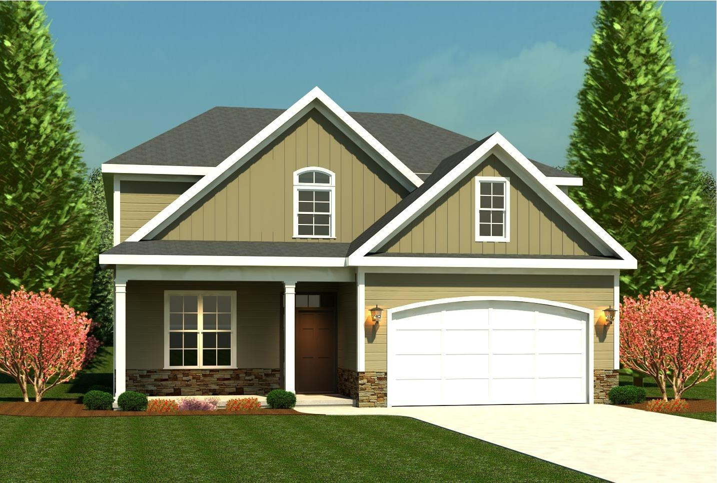 Exterior featured in the Essington II By Ivey Residential in Augusta, GA