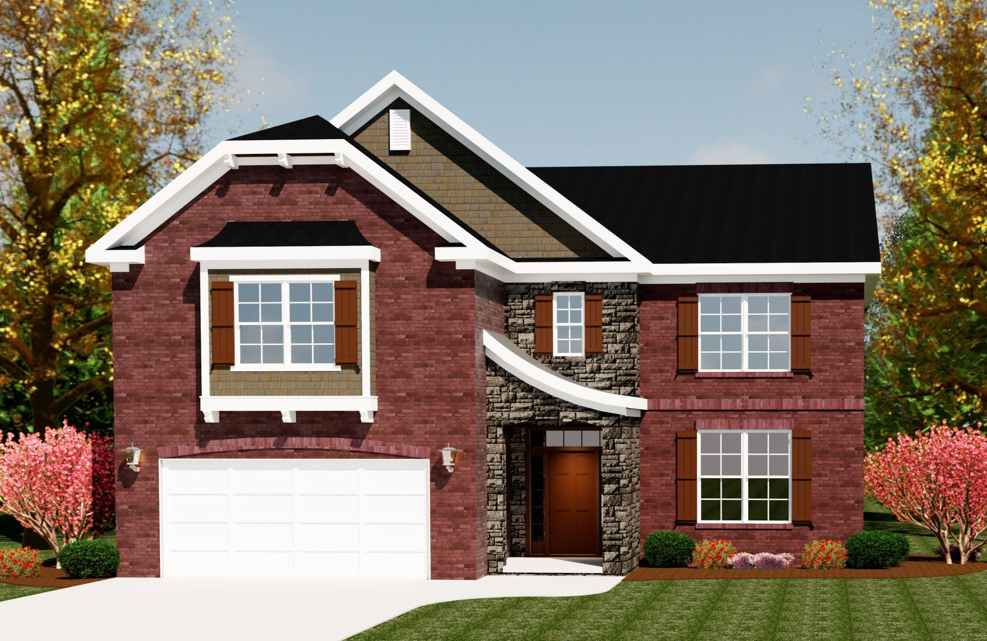 Exterior featured in the Townsend II By Ivey Residential in Augusta, GA