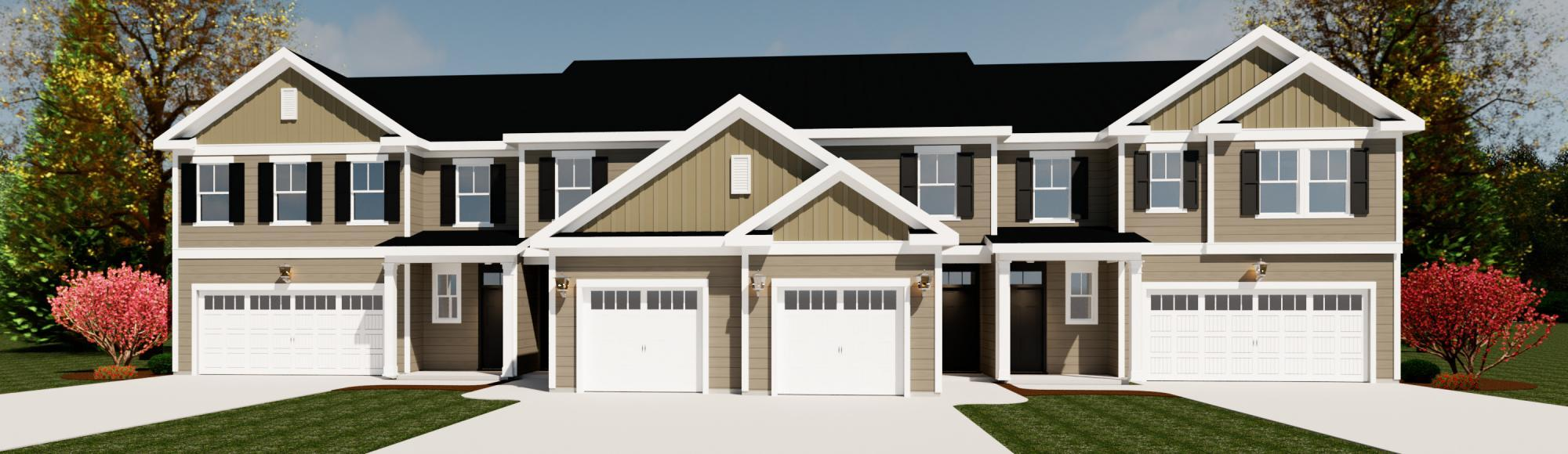 Exterior featured in the Emerson 2 Bedroom Townhome By Ivey Residential in Augusta, GA