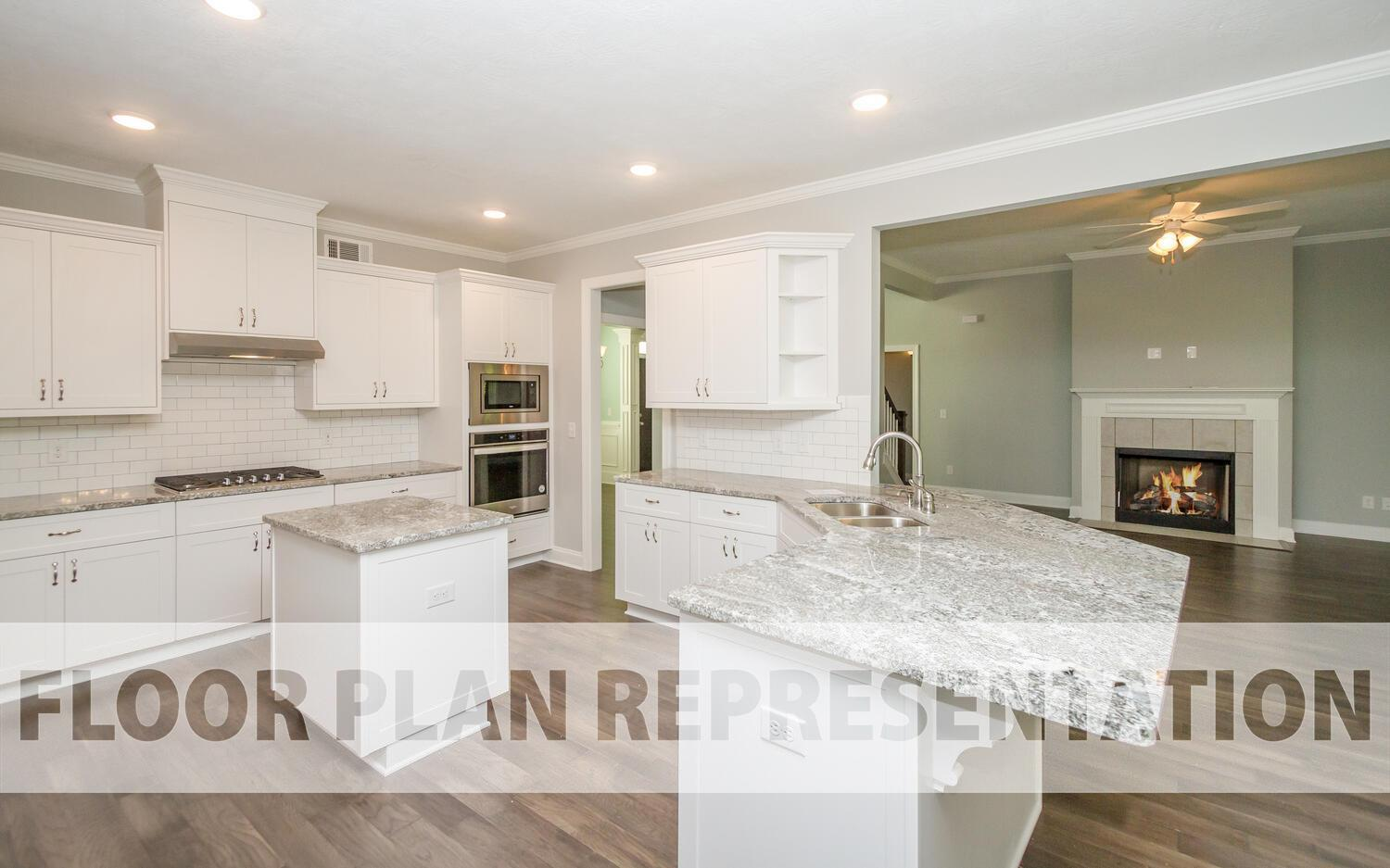Kitchen featured in the Belmont Springs III By Ivey Residential in Augusta, GA