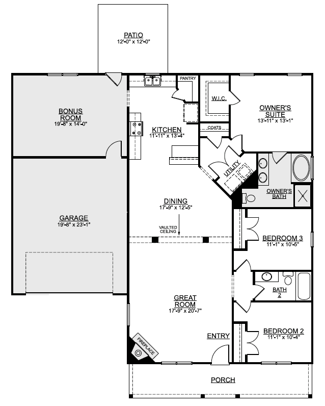 Croatan Crossing Floorplan