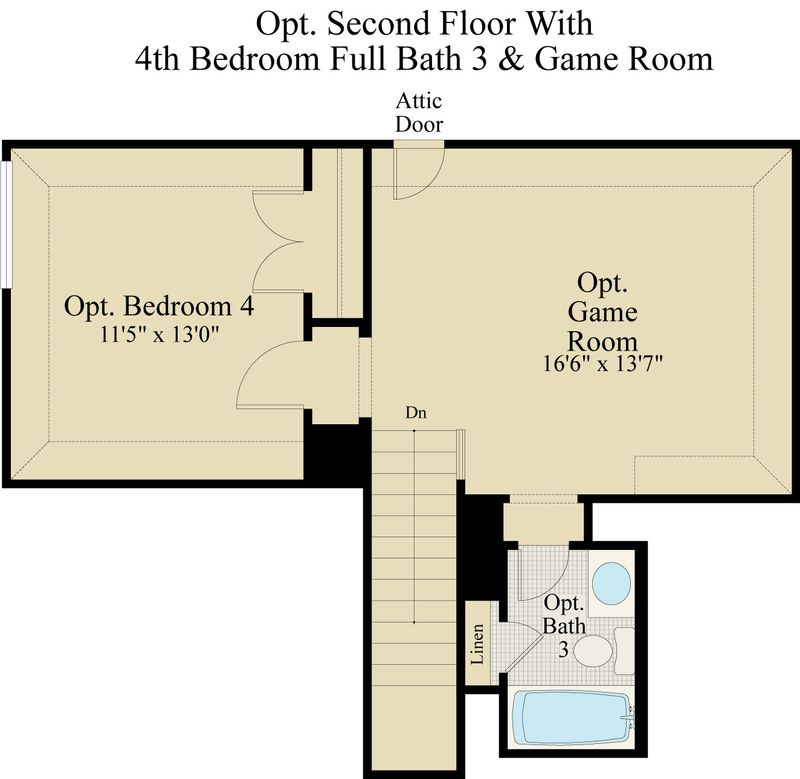 New Home Floor Plan (Columbus G) Available at John Houston Custom Homes
