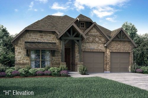 Ranch Style Home Exterior Design Available in Dallas Ft. Worth Waco Area