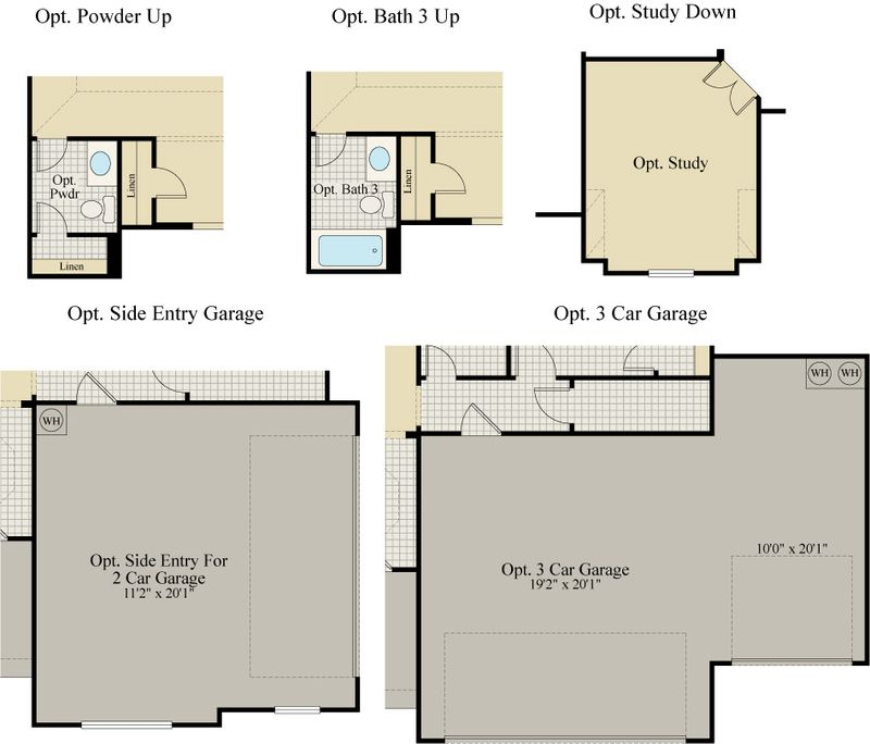 New Home Floor Plan (Concord H) Available at John Houston Custom Homes