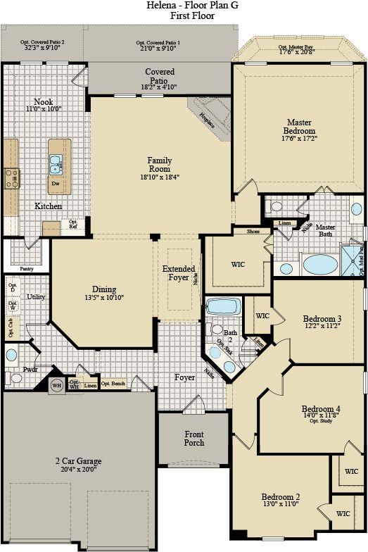 New Home Floor Plan (Helena G) Available at John Houston Custom Homes
