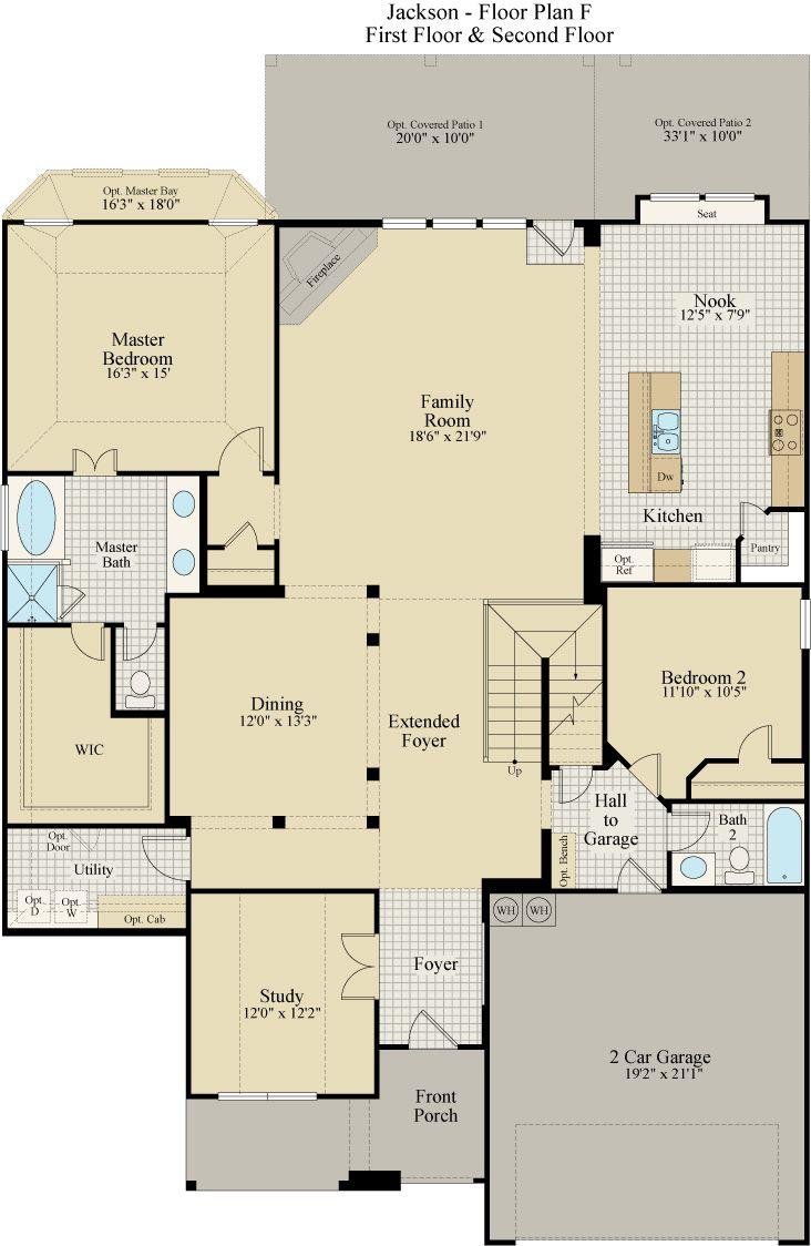 New Home Floor Plan (Jackson) Available at John Houston Custom Homes