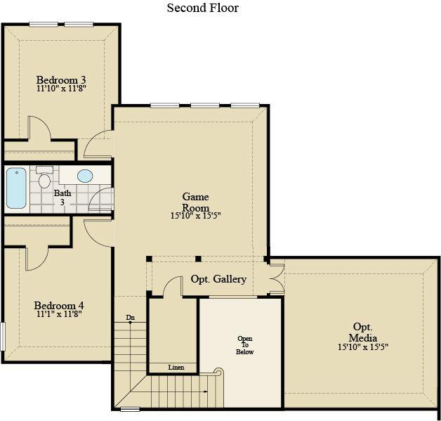 New Home Floor Plan (Phoenix F) Available at John Houston Custom Homes