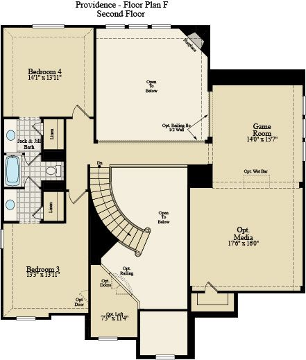 New Home Floor Plan (Providence F) Available at John Houston Custom Homes