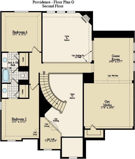 New Home Floor Plan (Providence G) Available at John Houston Custom Homes