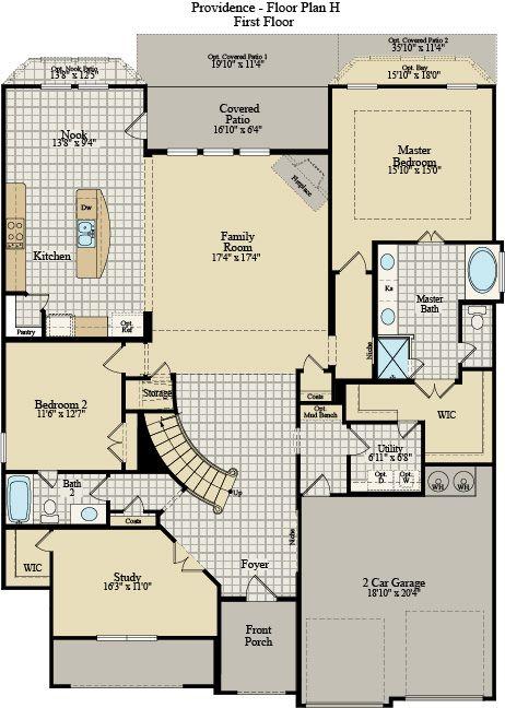 New Home Floor Plan (Providence H) Available at John Houston Custom Homes
