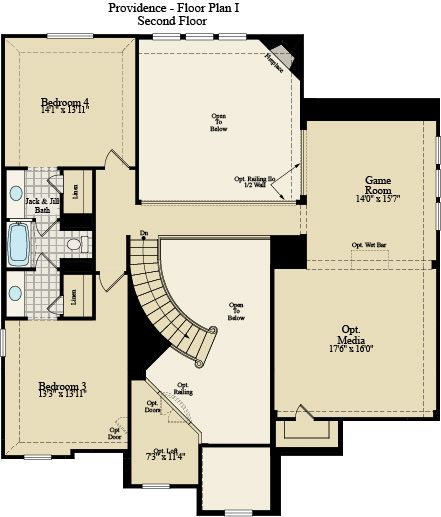New Home Floor Plan (Providence I) Available at John Houston Custom Homes