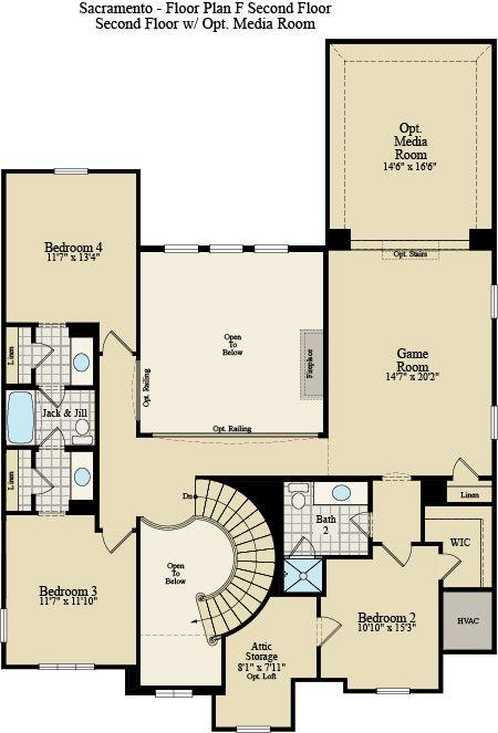 New Home Floor Plan (Sacramento) Available at John Houston Custom Homes