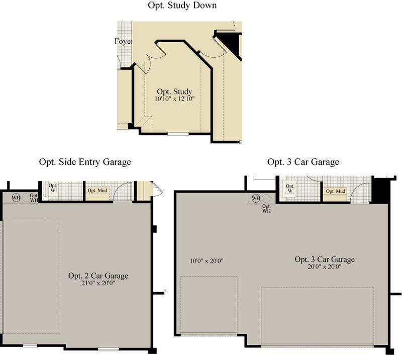 New Home Floor Plan (Harrisburg D) Available at John Houston Custom Homes