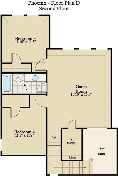 New Home Floor Plan (Phoenix D) Available at John Houston Custom Homes