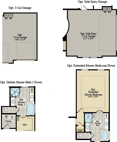 New Home Floor Plan (Sacramento D) Available at John Houston Custom Homes