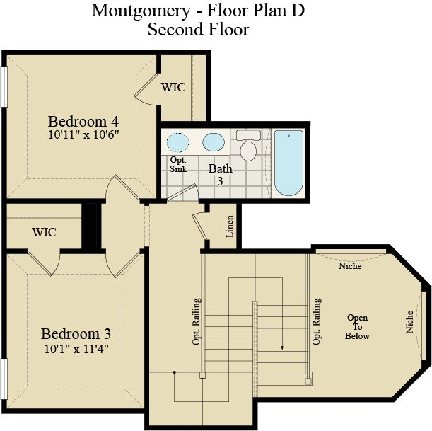 New Home Floor Plan (Montgomery D) Available at John Houston Custom Homes