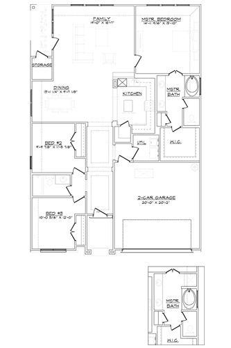 New Home Floor Plan (Brittany B) Available at John Houston Custom Homes