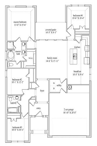 New Home Floor Plan (Lilah B) Available at John Houston Custom Homes