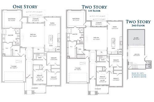 New Home Floor Plan (Milton D) Available at John Houston Custom Homes