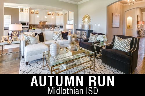 New Homes for Sale in Autumn Run   Midlothian, TX Home Builder