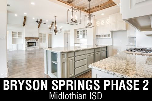 New Homes for Sale in Bryson Springs | Midlothian, TX Home Builder