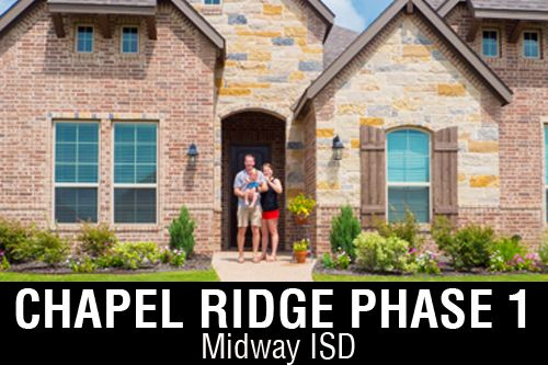 Chapel Ridge Phase 1 By J Houston Homes In Waco Texas