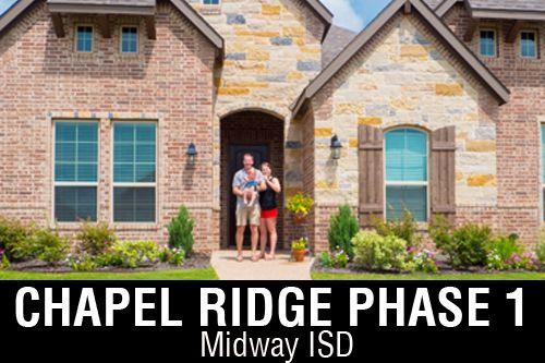 Chapel Ridge Phase 1 By J Houston Homes In Waco Texas