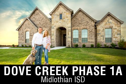 New Homes For In Dove Creek Midlothian Tx Home Builder