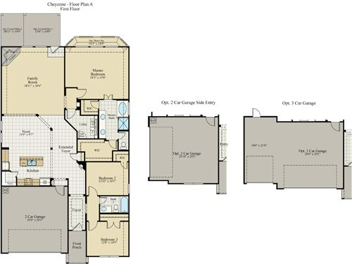 New Home Floor Plan (Cheyenne) Available at John Houston Custom Homes